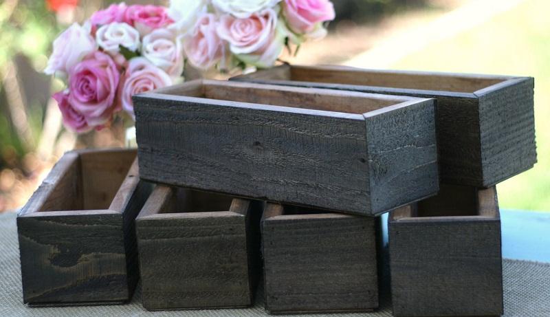 Як  зробити контейнери з дерев'яних дошок
