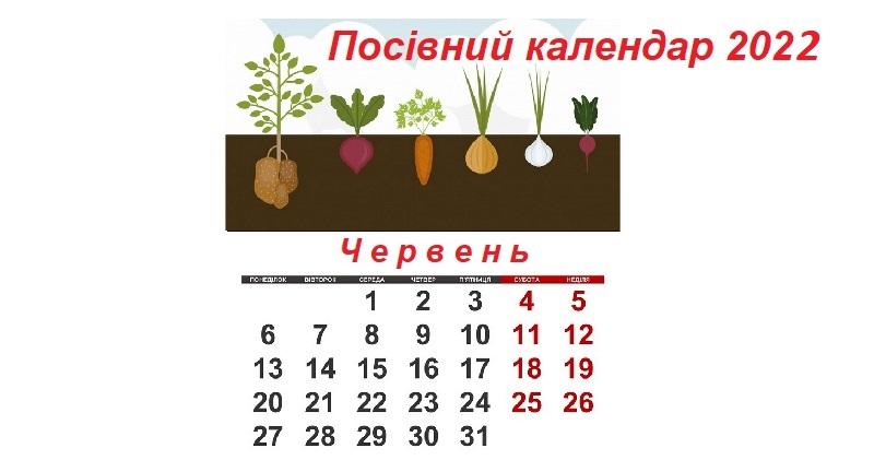 Посівний календар на червень 2021 рік