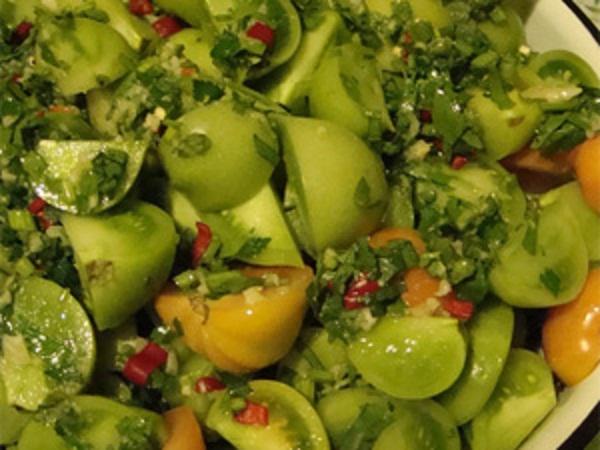 Зелені мариновані помідори
